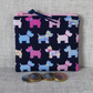 Zipped coin purse, scottie dogs