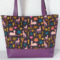 Tote bag, craft bag, Cheetahs.