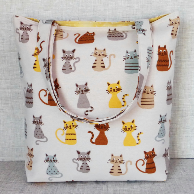 Cats tote bag, shopping bag.
