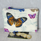 Zipped coin purse, large, butterflies