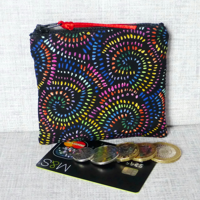Small purse, coin purse, multi-coloured