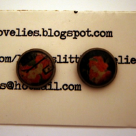 RESERVED for Maushaus - Resin Earrings