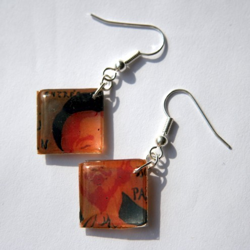 RESERVED for JUNE - Vintage Vincent Earrings
