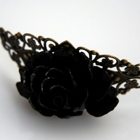 Black Rose Headband