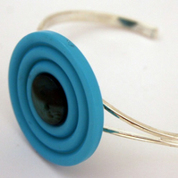 Blue Two Button Bangle