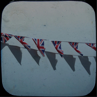 Bunting hand cut card (blank) 130mm square