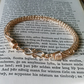 Viking knit bracelet in champagne gold colour wire