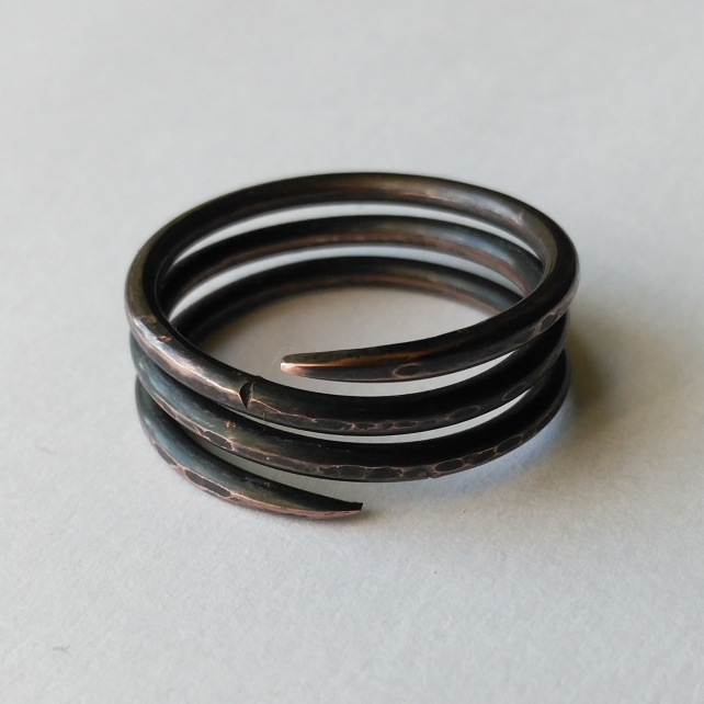 Copper Pictish spiral ring