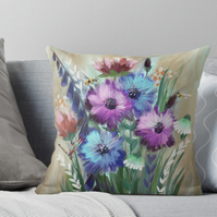 Foxglove Meadow Cushion (COVER ONLY)