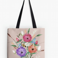 Rose Gold Flower Tote Bag Accessorise