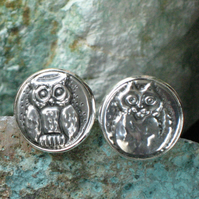 The Owl and the Pussycat Handmade Silver Pewter Cufflinks