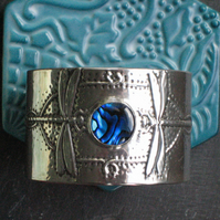 Dragonfly Bracelet with Blue Shell