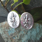 Gecko Cufflinks in Silver Pewter