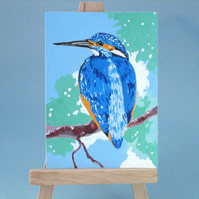 Sale! Kingfisher Original ACEO Painting