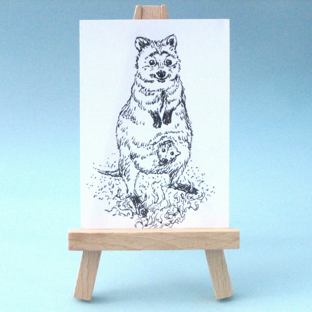 Quokka with Baby Collectable Art