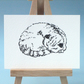 Sleeping Cat Original Drawing