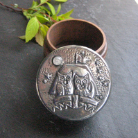Box, The Owl and the Pussycat Design in Pewter