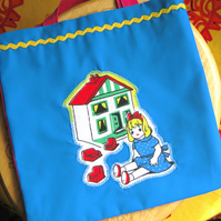Half-Price! Tote Bag for a Girl, Vintage Toys Design