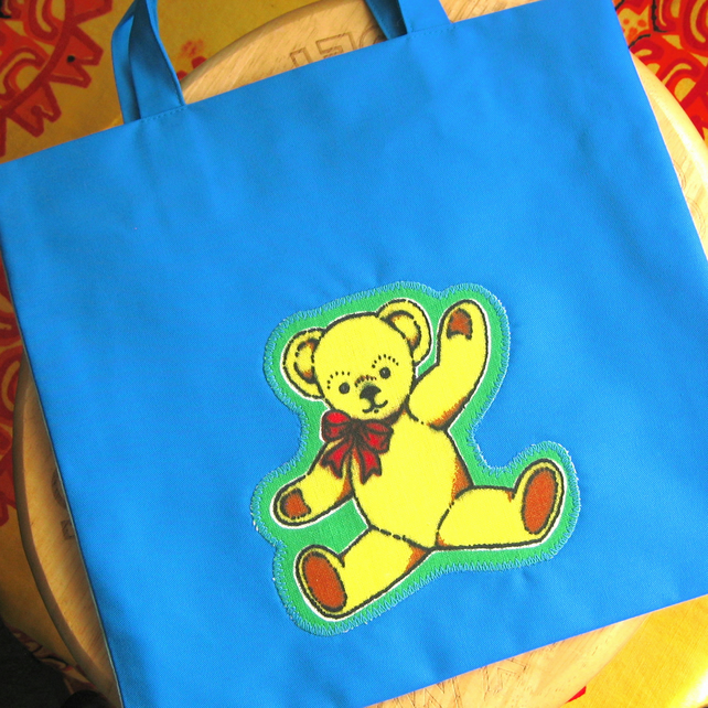 Child's Teddy Tote Bag, Half Price, for Boy or Girl