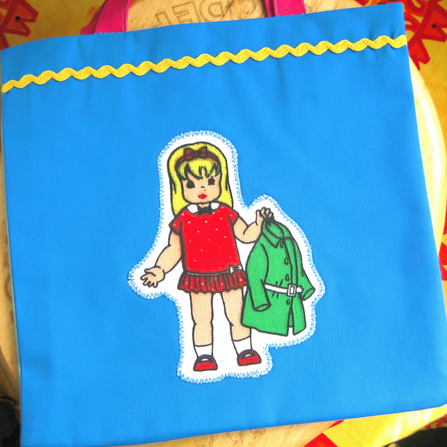 Little Tote Bag for a Child, Half Price, Vintage Doll Design