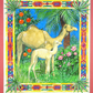 Camel Mother with Baby Decorative Watercolour Painting