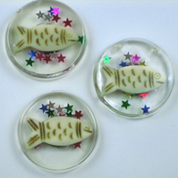 Sale! Set of Three Fish Magnets in a Gift Bag