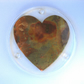 Resin Coaster with Copper Heart Motif