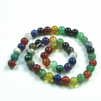 Mixed Gemstone Beads, 6mm Round, 28cm Strand