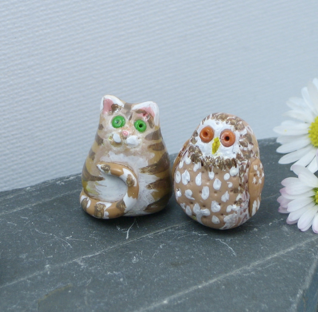 Owl and Pussycat Miniature Figures