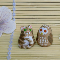 Tiny Figures Of The Owl and the Pussycat