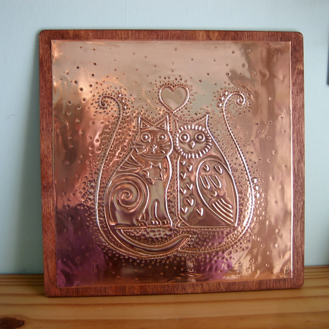 The Owl and the Pussycat Copper Plaque