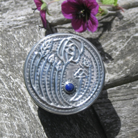Mackintosh Silver Pewter Box with Lapis Lazuli