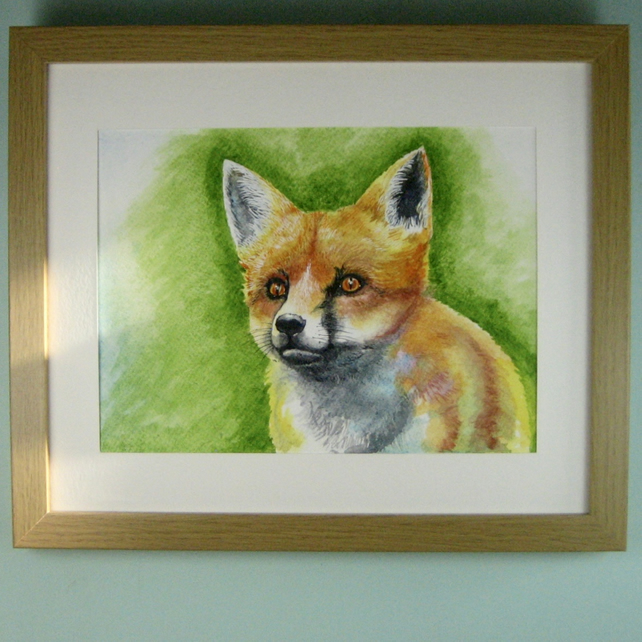 Original Painting of a Fox in Watercolour