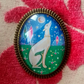 Greyhound Brooch, Miniature Art Jewellery