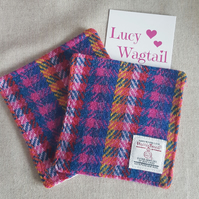 Harris Tweed Coaster - Rainbow Check