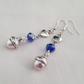 Tibetan silver acorn earrings with purple sparkly beads