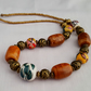 Chunky ceramic bead necklace - 1001405