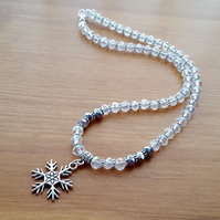 Sparkly snowflake necklace - 1001662