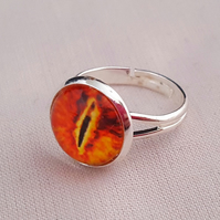 Orange Dragon's Eye ring