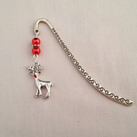 Christmas Rudolph bookmark