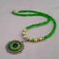 Green Dragon Eye necklace - 1002050