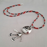 Black and red Jack Skellington necklace - 1002221