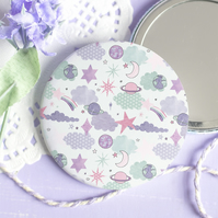 Look For Stars Pocket Mirror