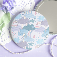 Look For Rainbows Pocket  Mirror