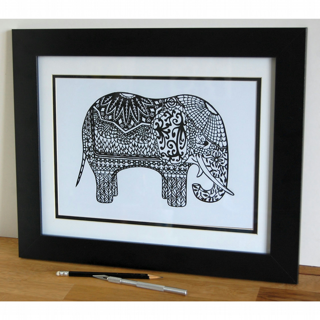 The Grand Old Elephant - A4 Print