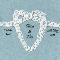 Tie the Knot - Original Personalised Papercut