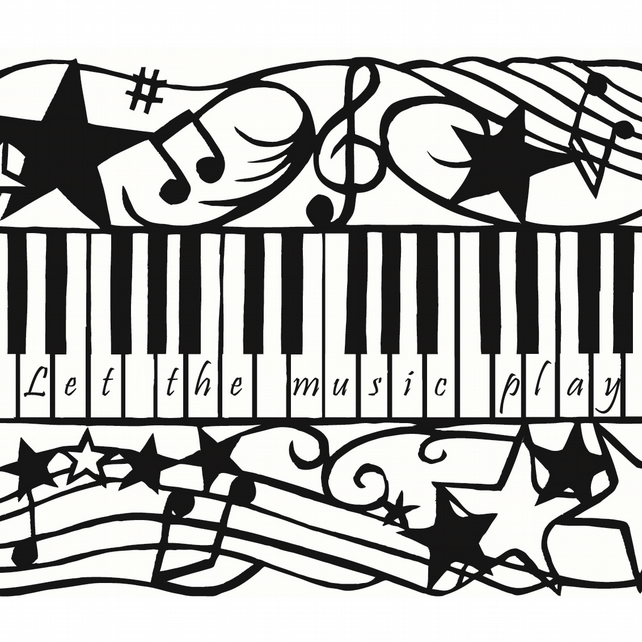 Personalised Piano Keys Giclee Print