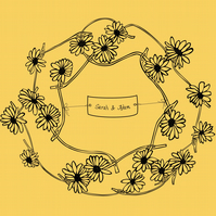 Personalised Daisy Chain Giclee Print