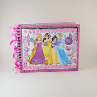Princess Scrapbook Album, Floral Photo Album, Mini Album, Memory Book, Gift Idea
