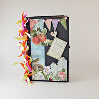 Premade Scrapbook Album, Floral Photo Album, Mini Album, Memory Book, Gift Idea
